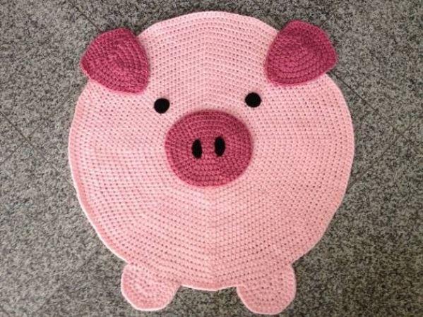Tapete em Forma de Porco
