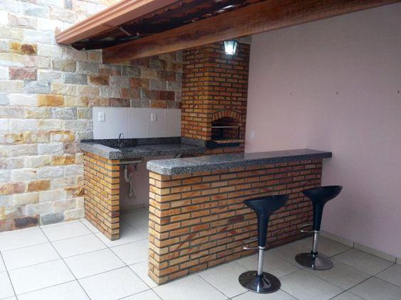 area de churrasqueira simples
