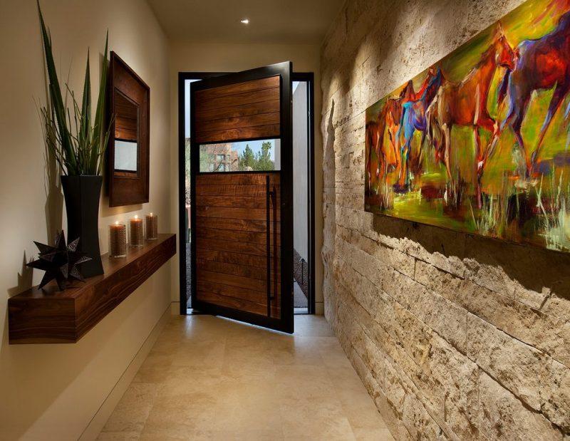 Hall de acesso de casa moderna