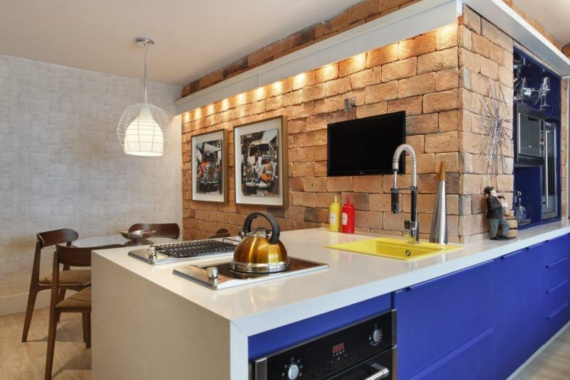 Móveis de Cozinha na Cor Azul Royal