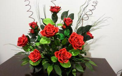 Arranjo de Rosas Vermelhas de EVA