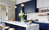 Azul marinho na Cozinha