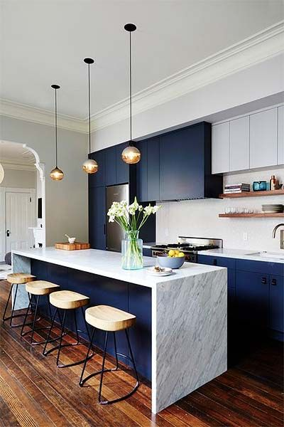 Cozinha Azul Turqueza Royal Tifany Marinho