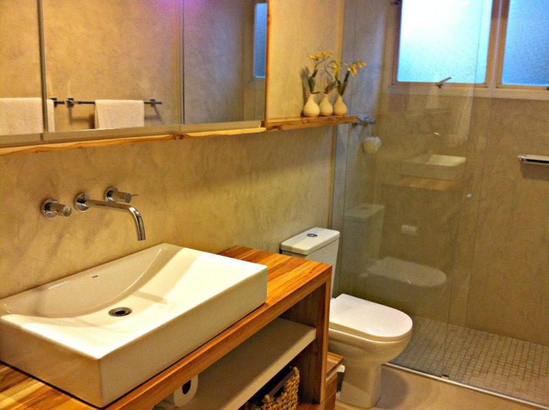 Parede de Banheiro com Cimento Queimado