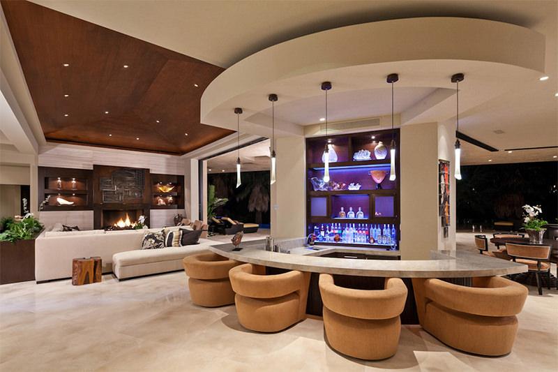 Bar de Luxo na Sala de Estar