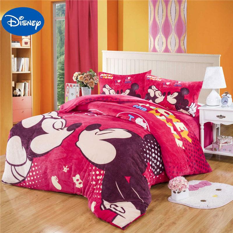 Cama de quarto d Solteiro da Minnie e do Mickey