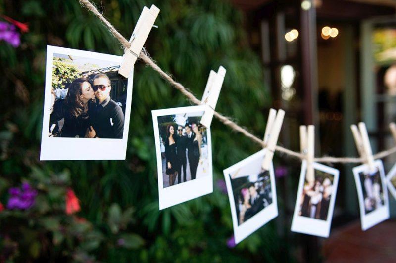 Varal de Fotos dos Noivos