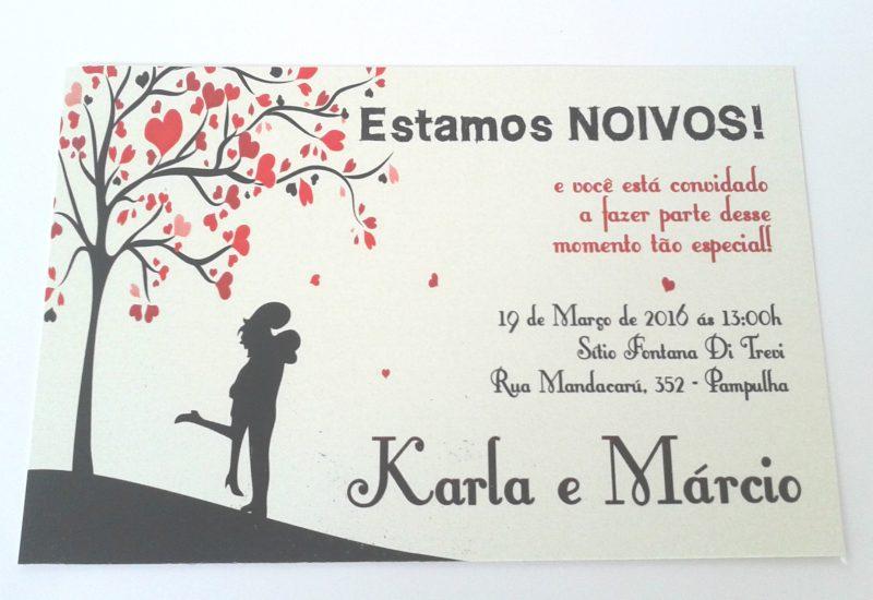 Convite para Festa de Noivado