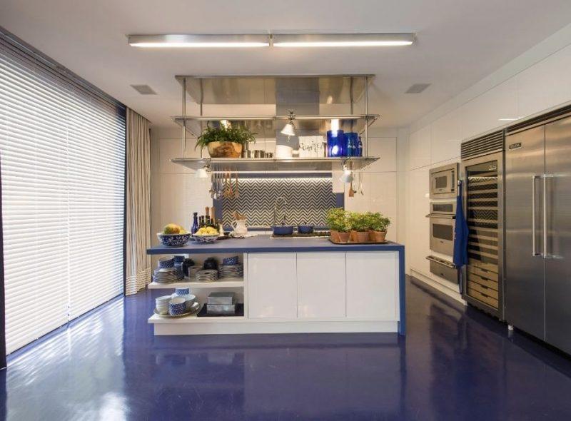 Cozinha Decorada Azul Royal