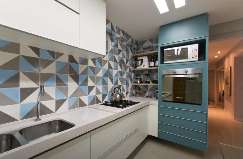 Decoração na cor Azul Tiffany na Cozinha