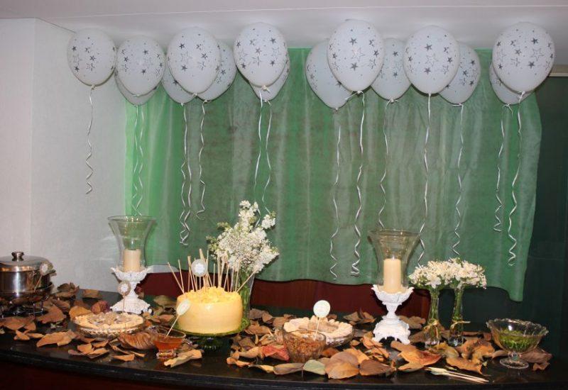 Chá de Panela decorado com balões no teto