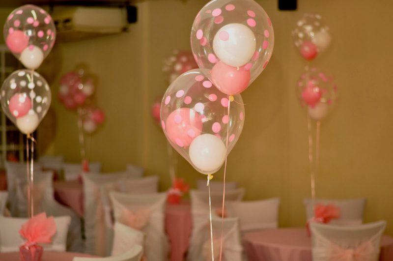 Decoração das Mesas com Balões