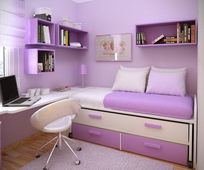 Decoração de quarto lilás