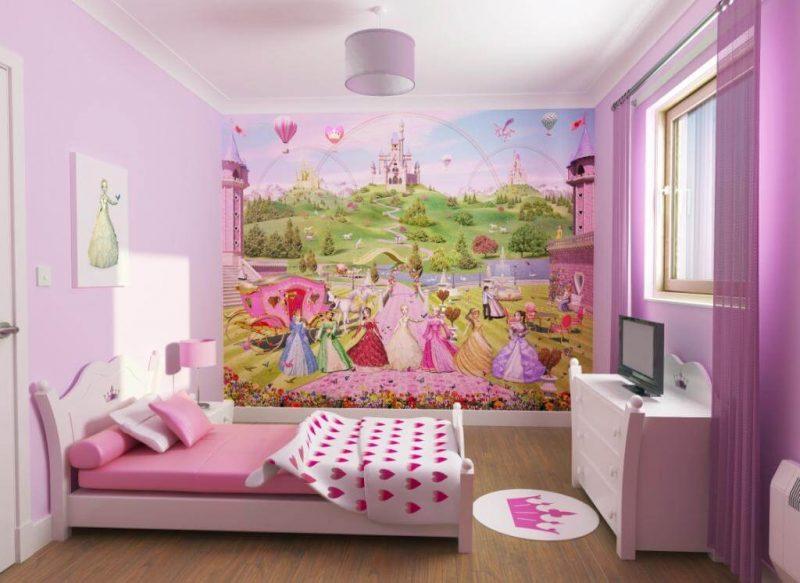 Decoração Rosa para quarto infantil feminino