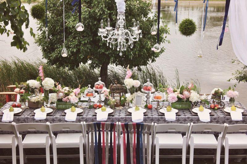 Festa de noivado ao ar livre