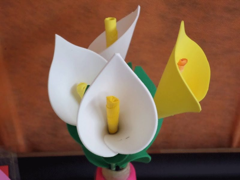 Flor Copo de Leite em EVA