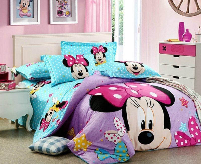 Jogo de cama completo da Minnie