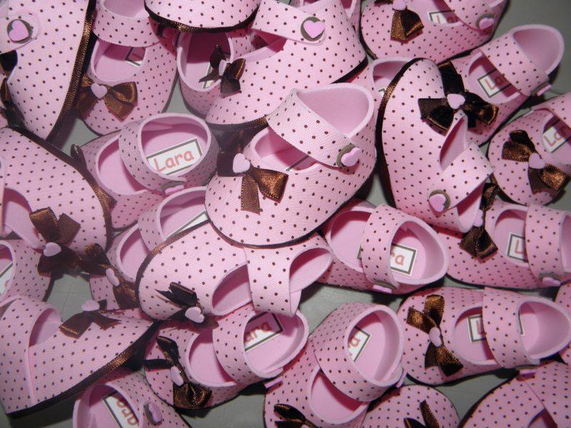 Lembrancinha de Meninas Sapatinho Rosa