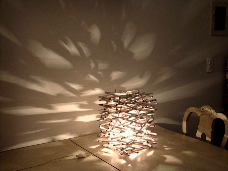 luminária artesanal de Jornal