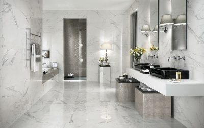 Banheiro Revestido com Mármore Carrara