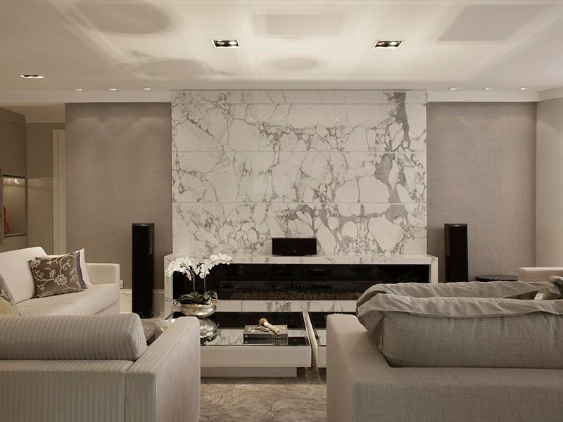 Parede Decorativa com Mármore Carrara