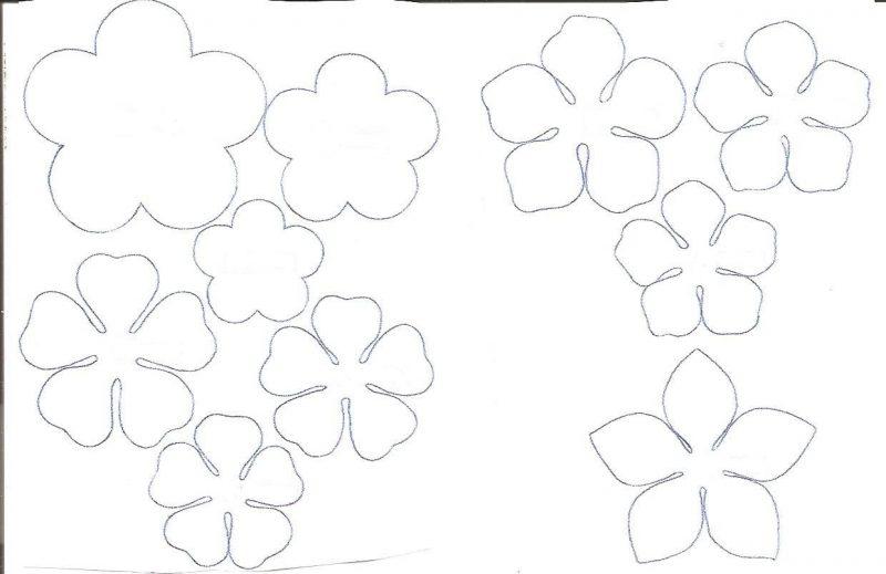 Moldes de Floras de EVA de 5 Pétalas