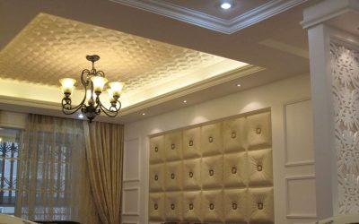 Moldura de Isopor para Teto em quarto de Luxo