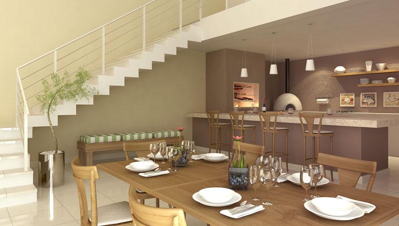 Projeto de espaço gourmet interno