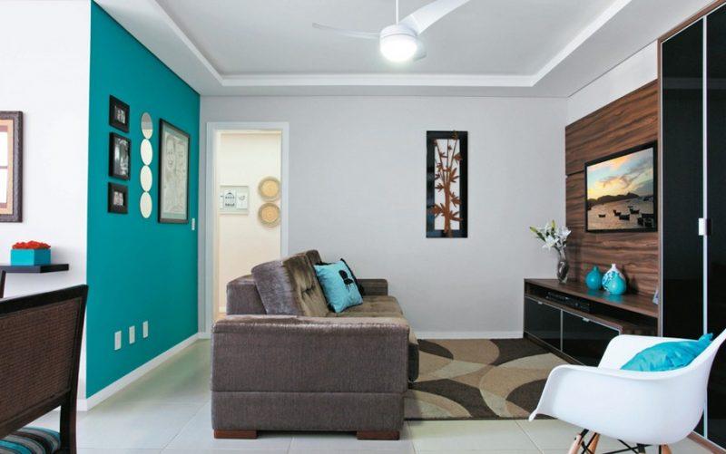 Azul turquesa tiffany na decora o quarto sala - Azul turquesa pared ...