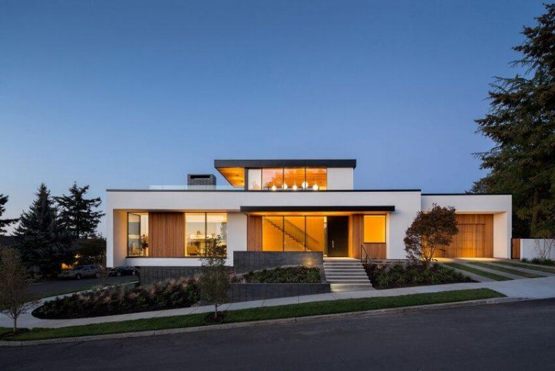 Fachada de Casa linda moderna
