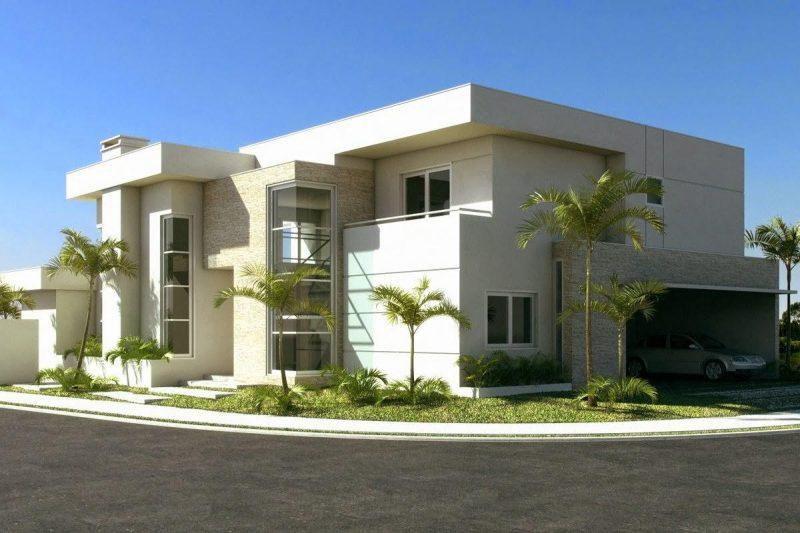 Casa de esquina sem telhado