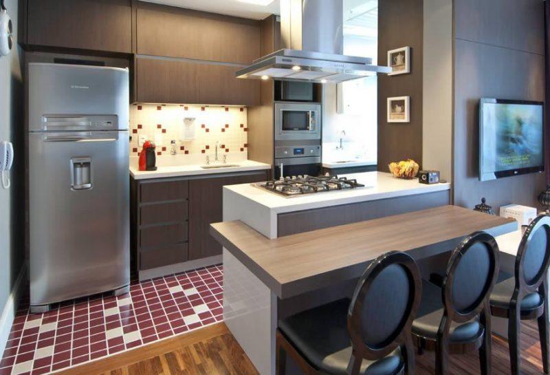 Fotos de cozinha planejada americana pequena 34