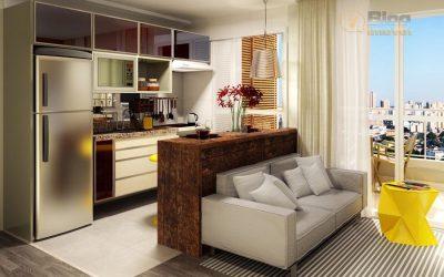 Cozinha com sala Integrada pequena