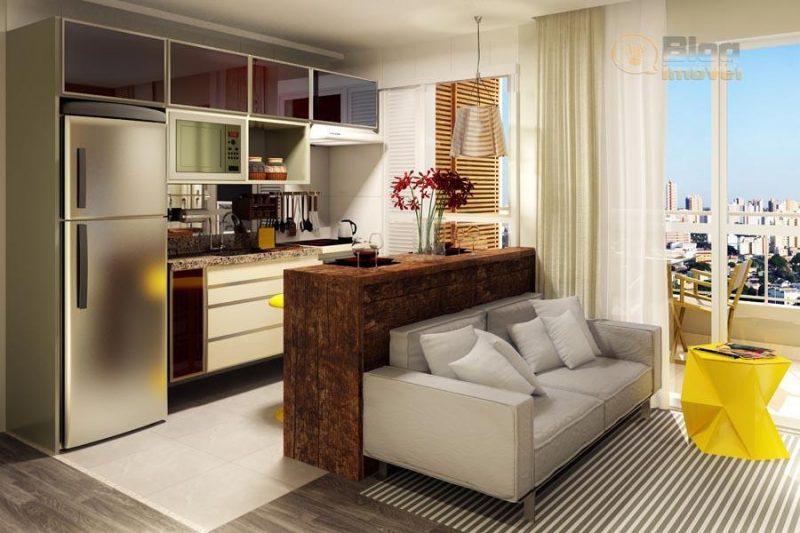 Decora o de sala pequena barata simples integrada 50 - Casas super pequenas ...