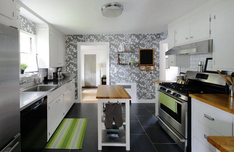 como colocar papel de parede na cozinha