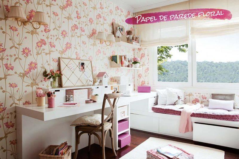 Papel de parede para quarto de menina