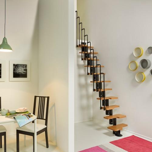 escada de ferro minimalista