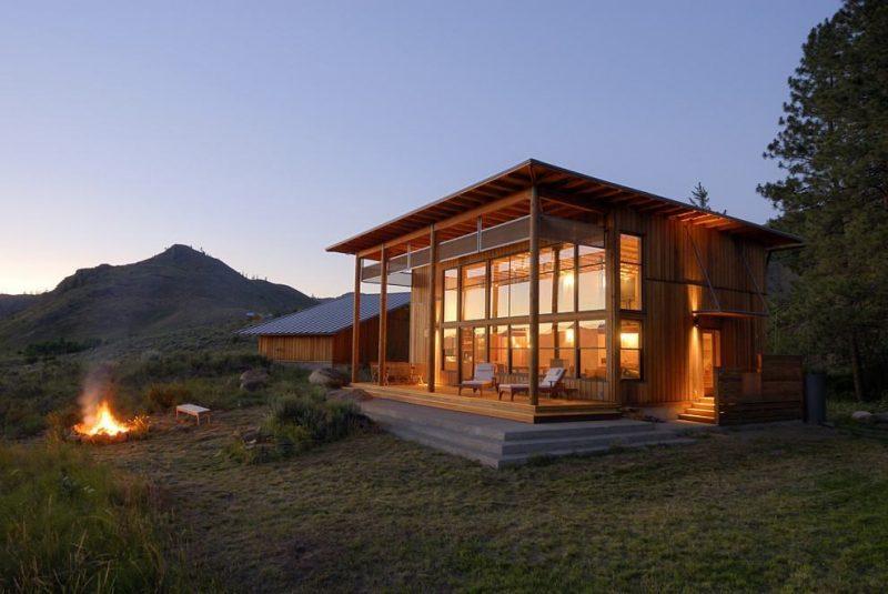 Projeto de casa de campo de vidro