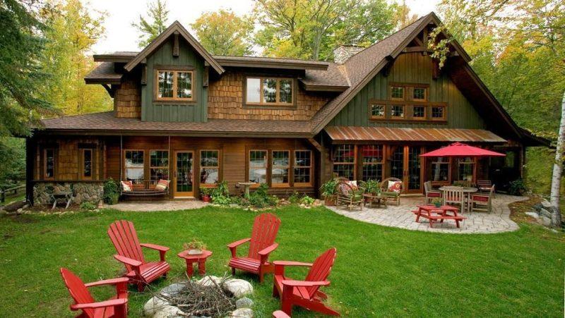 projeto de casa de campo de madeira