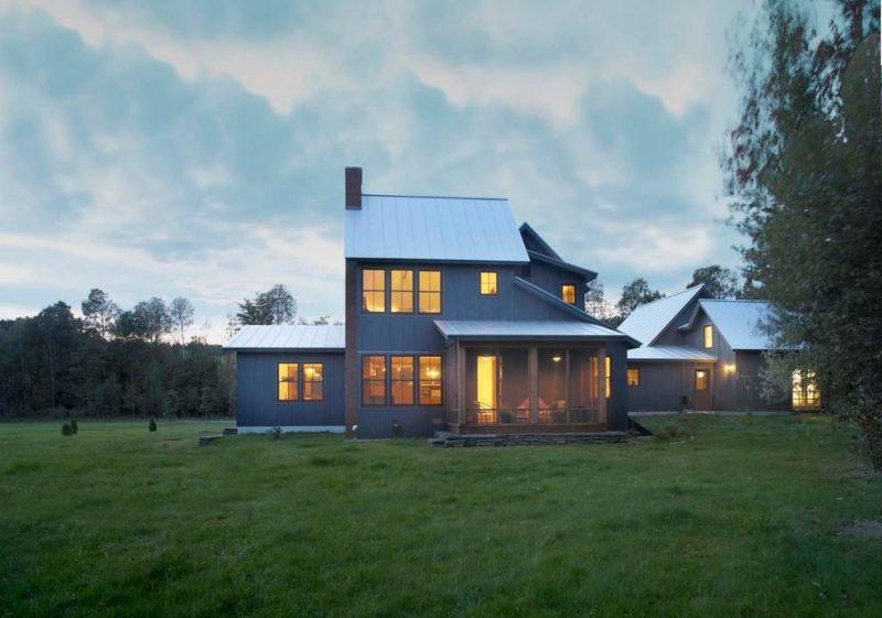 projeto de casa de campo moderna simples