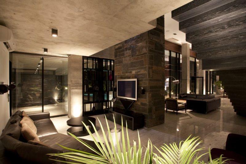 Sala de Luxo com lareira