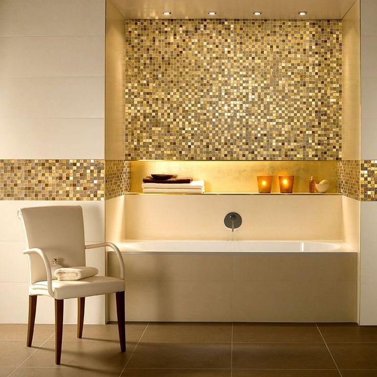 17 Banheiros Decorados Com Faixas Para Se Inspirar