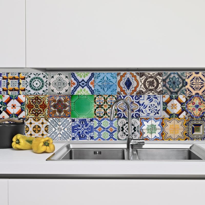 azulejo português em adesivo