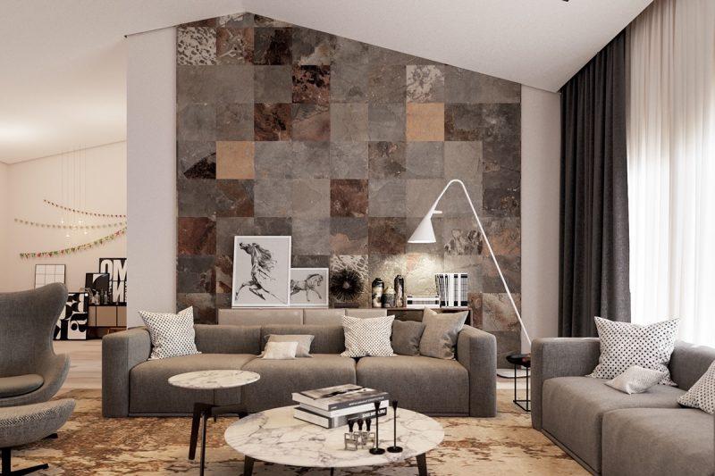 Paredes decoradas pedras cer mica textura quadros e for Wandfliesen wohnzimmer