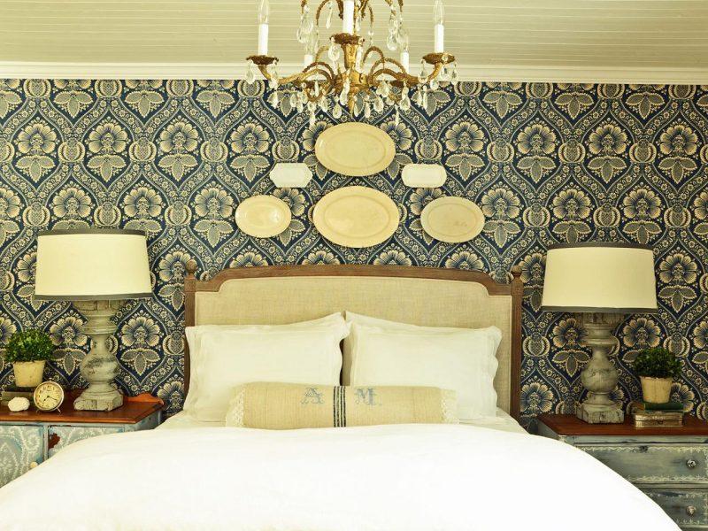 paredes decoradas com tecido