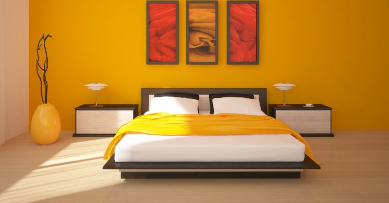 Parede amarela sala quarto e cozinha cores e texturas - Camera da letto gialla ...