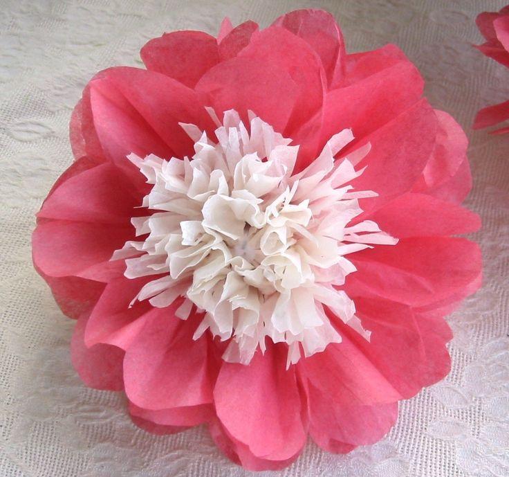flor de papel de seda