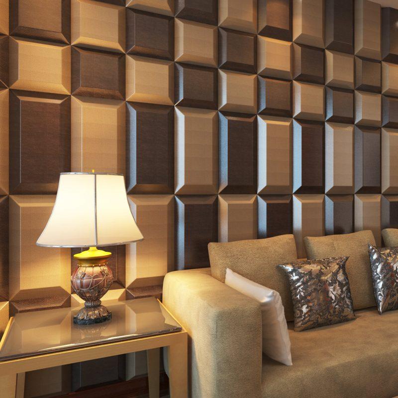 Textura de revestimento de parede marrom