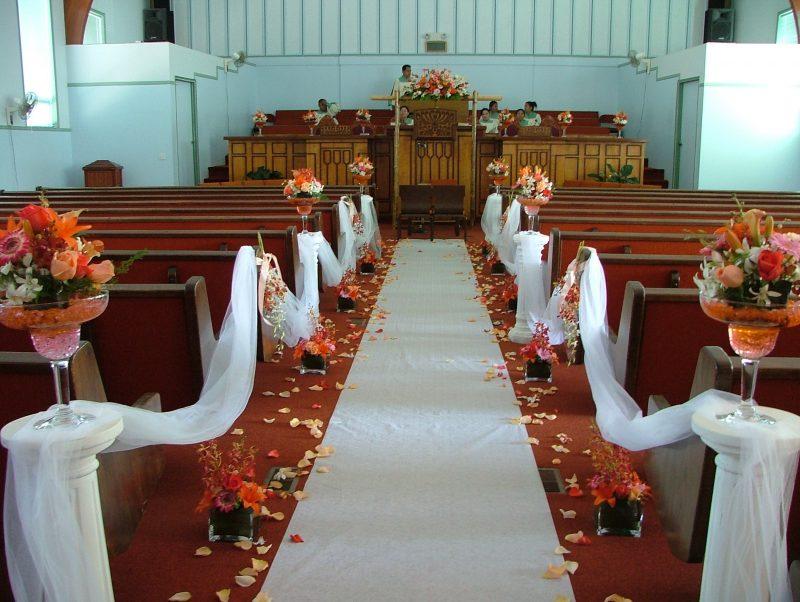decoração de casamento-igreja