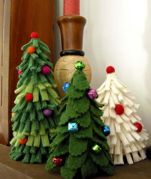 árvore de natal em feltro